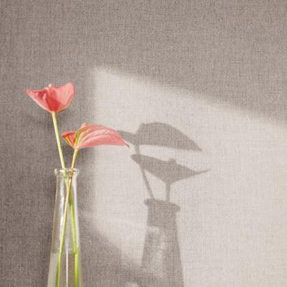 Papier Peint Uni Taupe Fonce Intisse Linen Leroy Merlin