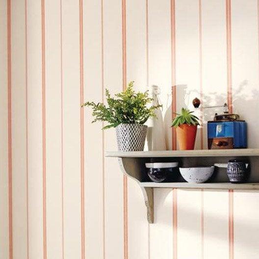 papier peint rayure matelas rouge intiss bon app tit leroy merlin. Black Bedroom Furniture Sets. Home Design Ideas