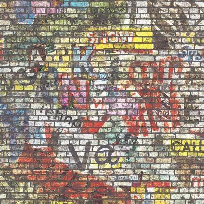 Papier Peint Brique Multicolore Fonce Intisse Street Art Leroy Merlin