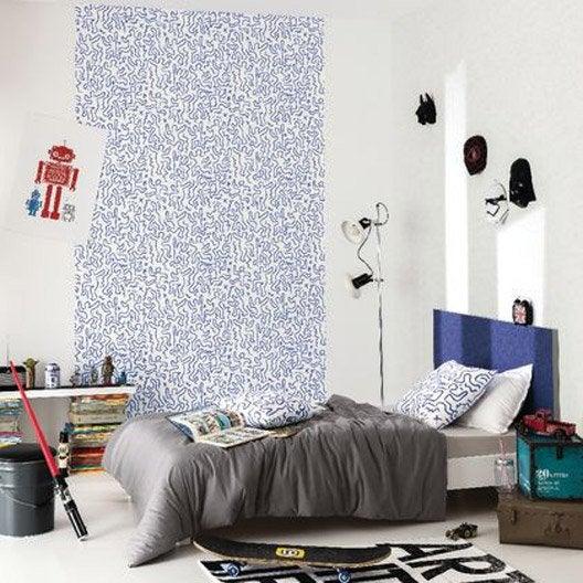 papier peint art man noir intiss street art leroy merlin. Black Bedroom Furniture Sets. Home Design Ideas