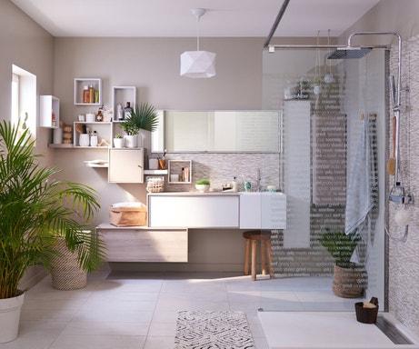Salles de bains styles et tendances leroy merlin - Salle de bain italienne leroy merlin ...