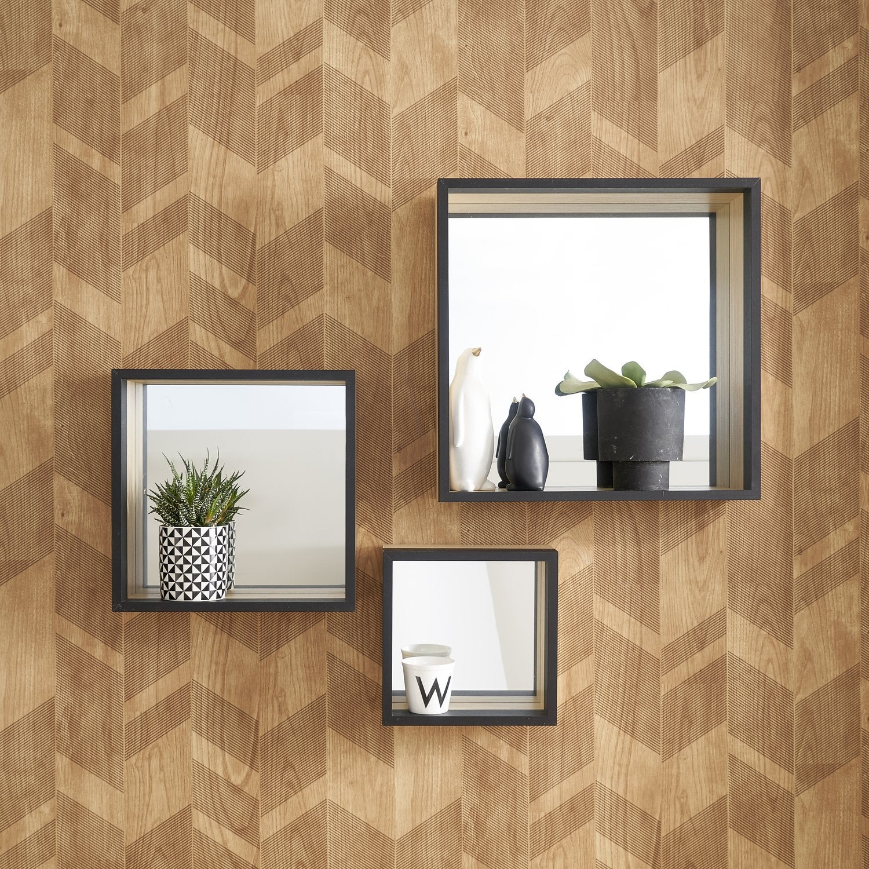 jeu de miroirs pour un salon design leroy merlin. Black Bedroom Furniture Sets. Home Design Ideas
