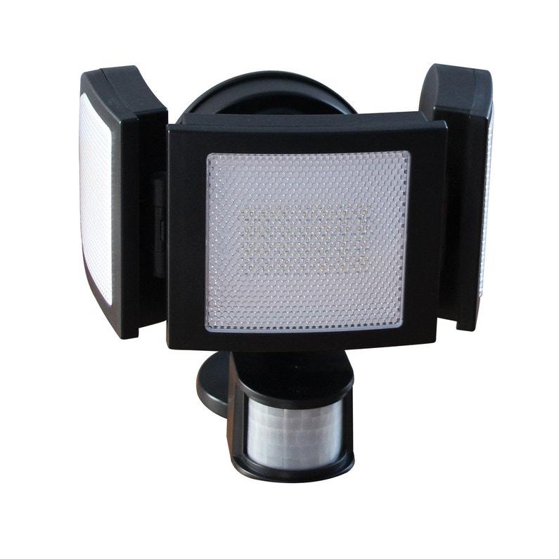Projecteur à Détection Solaire 3 Têtes 1500 Lm Noir Chromex Leroy