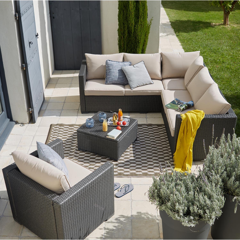 Awesome salon de jardin antibes naterial gris photos amazing house design - Leroy merlin antibes ...