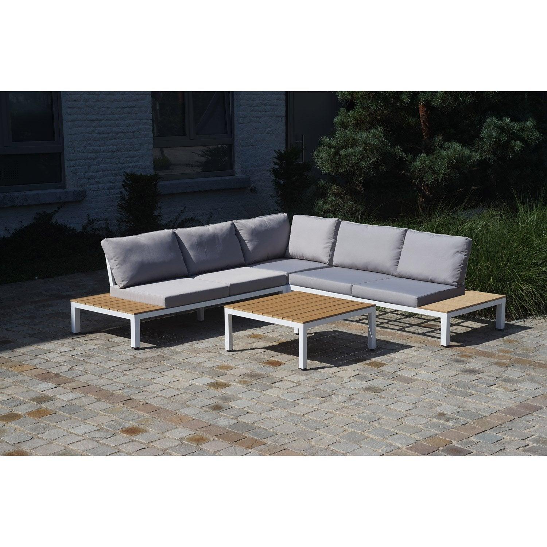 Délicieux Salon De Jardin Aluminium Blanc Avec 20 New Table De ...