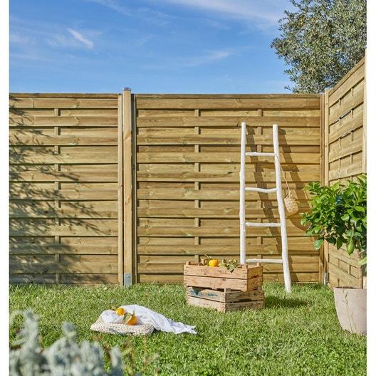 Pose d\'une clôture en panneau bois au mètre linéaire | Leroy ...