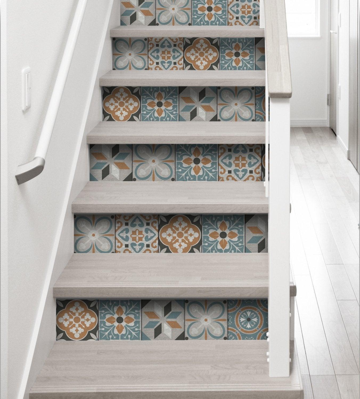 Stickers pour contremarche, de la déco dans l\'escalier | Leroy Merlin