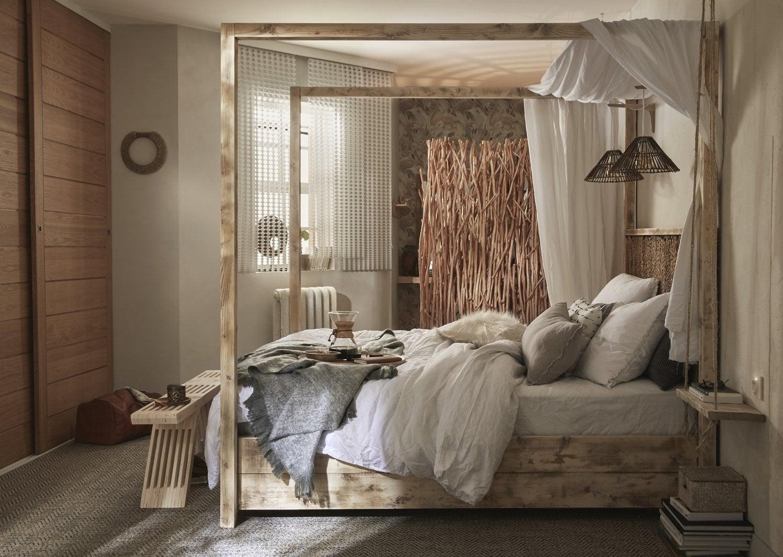 Une chambre très naturelle  Leroy Merlin