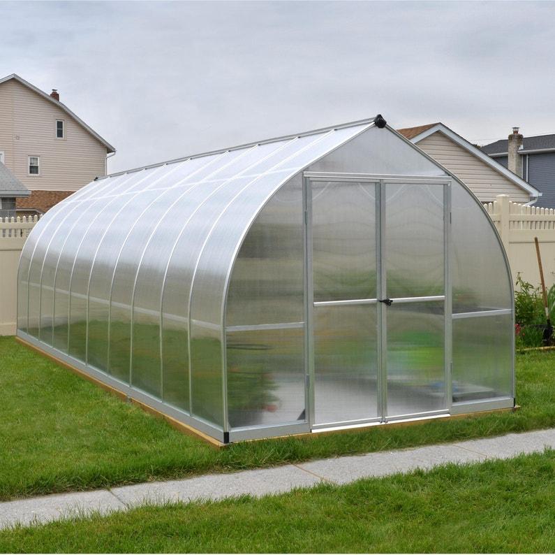 Serre de jardin BELLA 14 m², aluminium et polycarbonate double ...