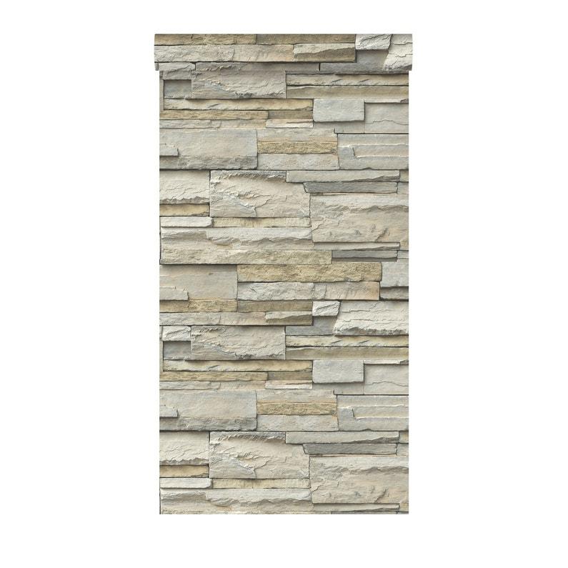 Papier Peint Vinyle Structure Mur De Pierre Naturel