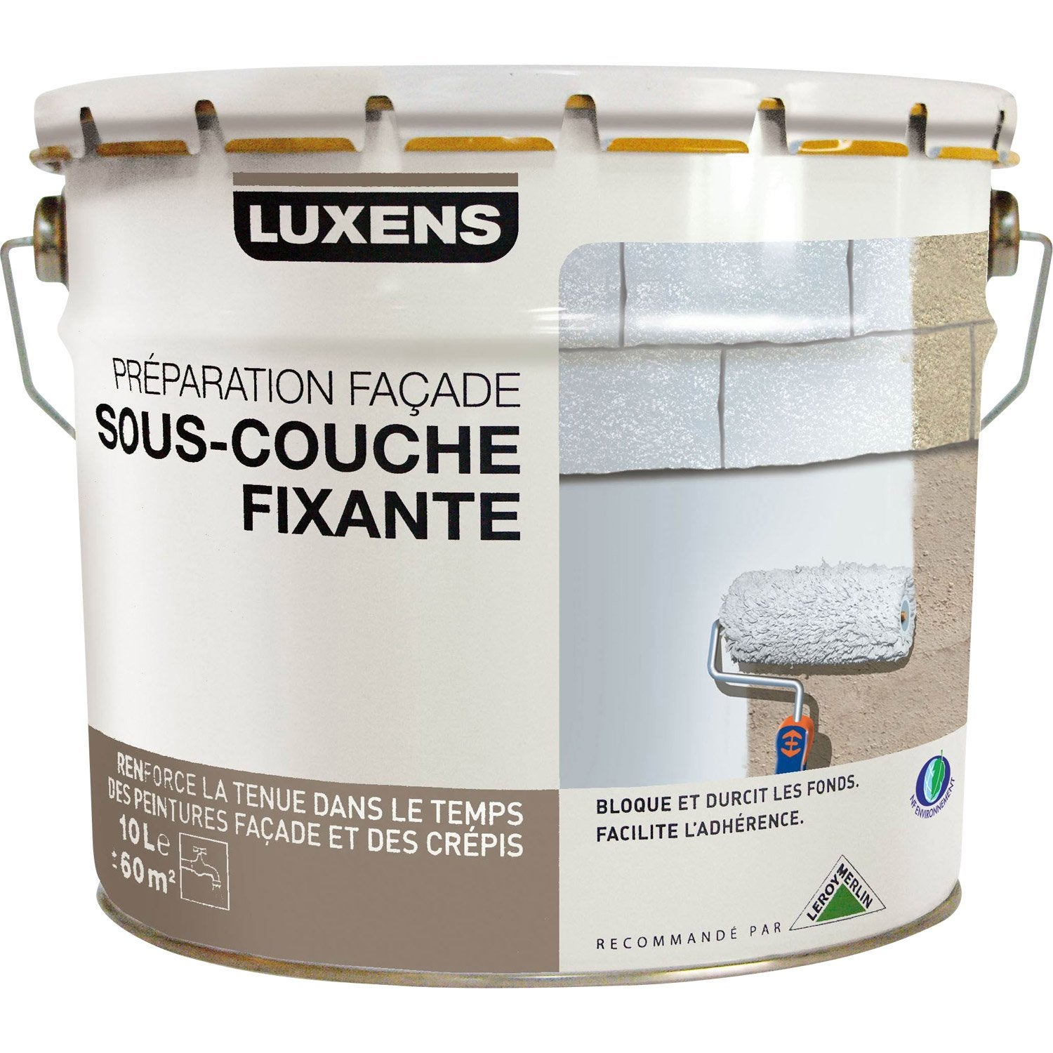 Sous Couche Fa Ade Luxens Blanc Gris 10 L Leroy Merlin