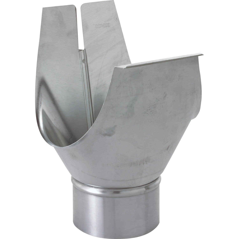 naissance agrafable universelle zinc gris scover plus d cm mm leroy merlin. Black Bedroom Furniture Sets. Home Design Ideas