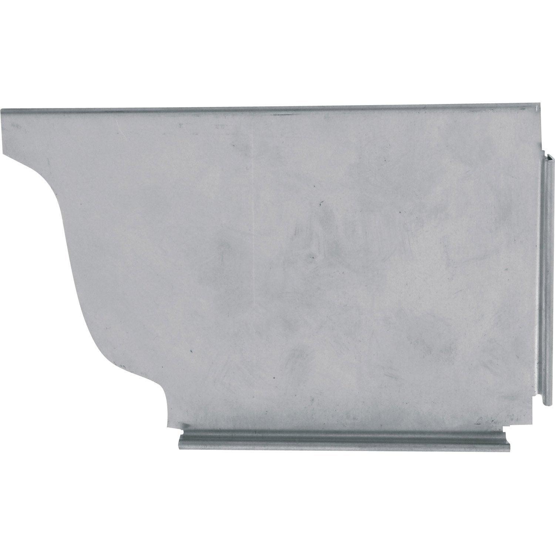 talon mouluré droit zinc gris scover plus, dév.33 cm | leroy merlin