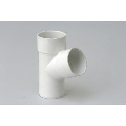 Culotte 67.3° pvc blanc GIRPI, Dév.25 cm Diam.80 mm