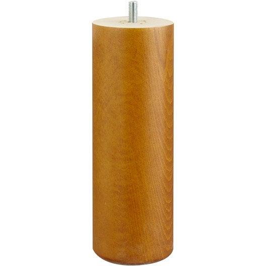 pied de lit sommier cylindrique fixe h tre teint marron 20 cm leroy merlin. Black Bedroom Furniture Sets. Home Design Ideas