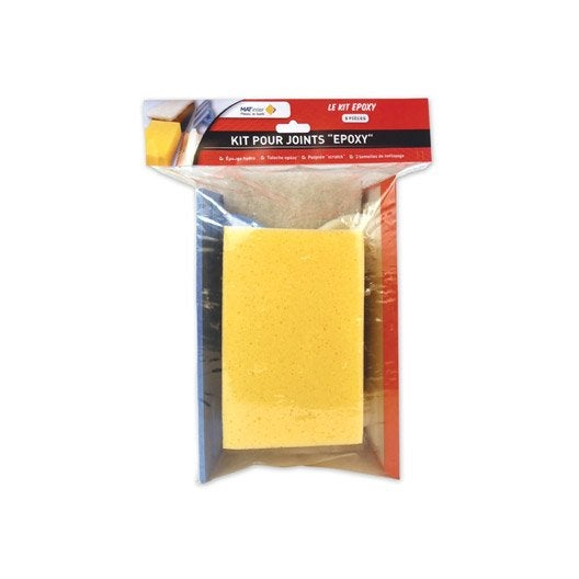Kit joints époxy : poignée scratch, taloche, éponge et 3 semelles de nettoyage