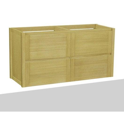 caisson meuble sous vasque x x cm marron fjord leroy merlin. Black Bedroom Furniture Sets. Home Design Ideas