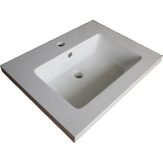 plan vasque 1 robinet rsine 100 cm plan simple vasque fjord - 100 Cm Plan Vasque
