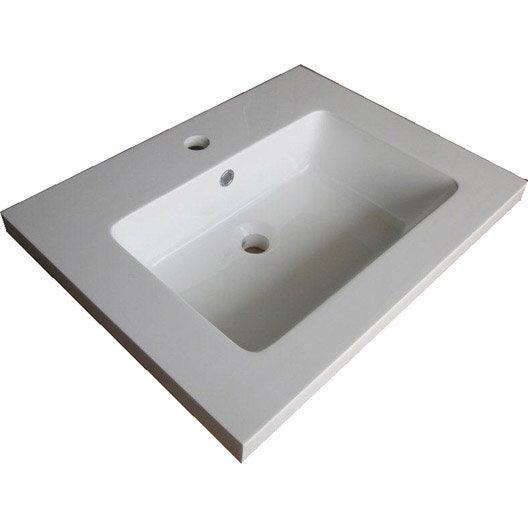 plan simple vasque fjord r sine de synth se blanc l60xl20xp45 5 cm leroy merlin. Black Bedroom Furniture Sets. Home Design Ideas