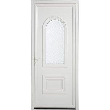 Porte d'entrée pvc Lille ARTENS poussant droit, H.215 x l.90 cm
