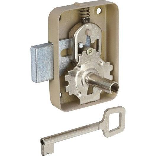 serrure en fer pour portes de meuble axe 50 mm leroy merlin