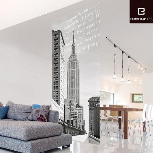 cloison d corative nyc empire state building deco home l. Black Bedroom Furniture Sets. Home Design Ideas