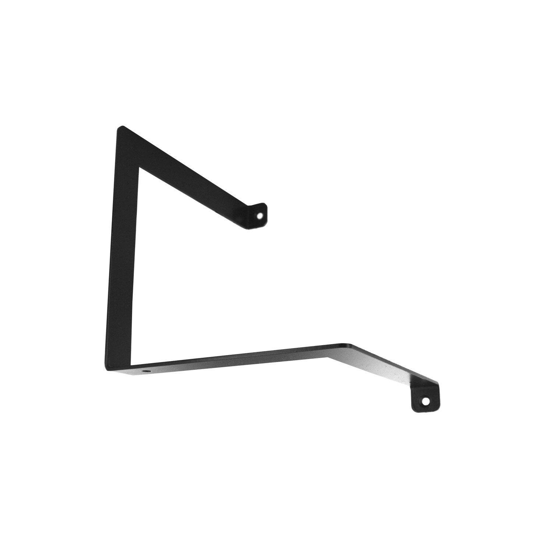 Equerre Parenthèse acier epoxy noir, H.15 x P.15 cm | Leroy Merlin