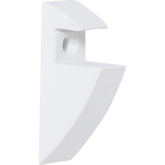 equerre pince express plastique blanc h 8 5 x p 4 cm leroy merlin. Black Bedroom Furniture Sets. Home Design Ideas