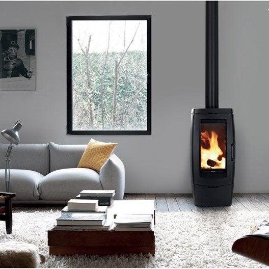 po le bois supra ramses 10 kw leroy merlin. Black Bedroom Furniture Sets. Home Design Ideas