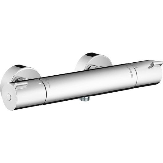 Mitigeur thermostatique douche chrom brillant hansgrohe - Reglage mitigeur thermostatique douche ...