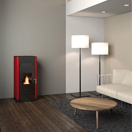 po le granul s freepoint idron 15 bordeaux 15 4 kw leroy merlin. Black Bedroom Furniture Sets. Home Design Ideas