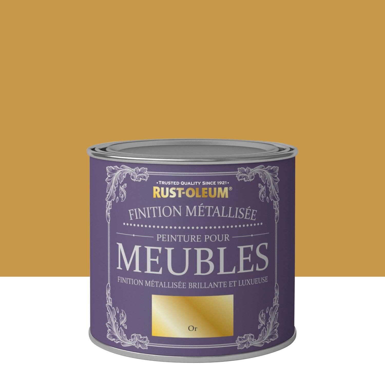 Peinture Pour Meuble, Objet Et Porte, Poudré, RUSTOLEUM, Or 0.5 L