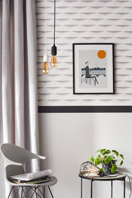 Habillez les murs de manière élégante avec un papier peint origami 3D