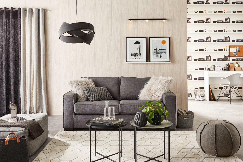 habillez les murs du salon avec un papier peint planches leroy merlin