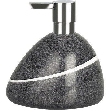 Distributeur de savon polyrésine Etna, gris