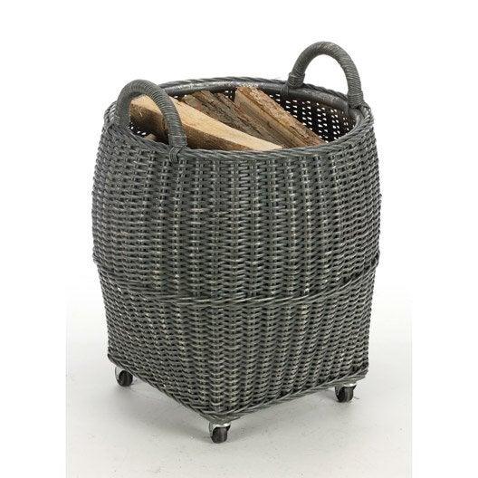panier b ches rotin gris fonc atelier dix neuf farol. Black Bedroom Furniture Sets. Home Design Ideas