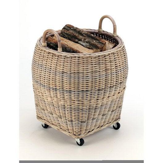panier b ches rotin atelier dix neuf farol leroy merlin. Black Bedroom Furniture Sets. Home Design Ideas