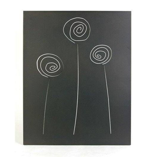 Plaque de protection murale en acier coloris gris sabl - Plaque acier protection poele ...