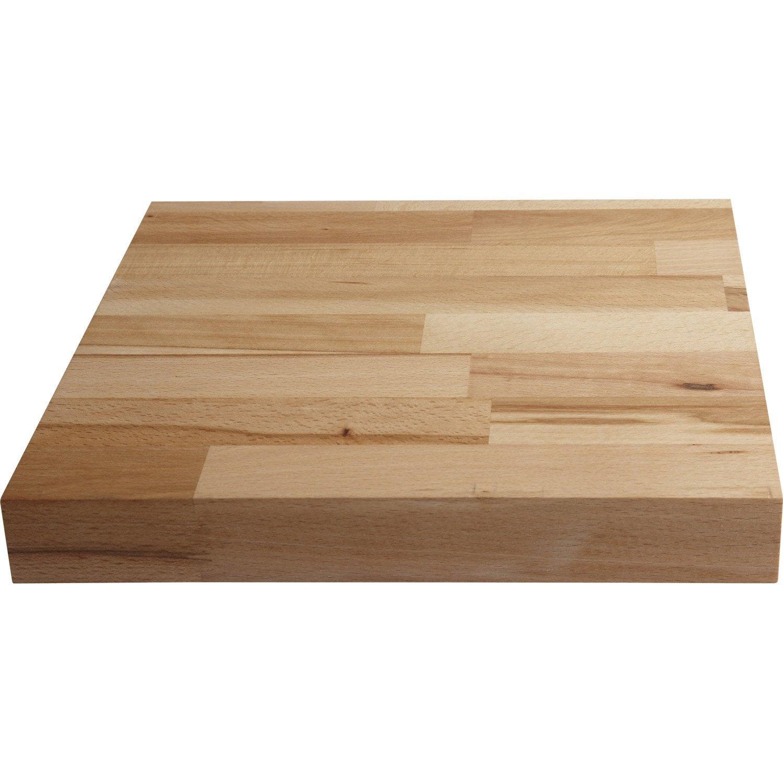 Plan De Travail Bois 280 plan de travail bois hêtre préhuilé satiné l.300 x p.65 cm, ep.38 mm