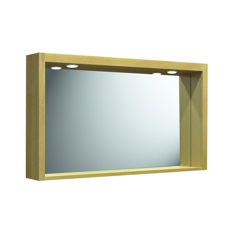 Miroir avec clairage int gr l 120 cm fjord leroy merlin for Miroir lumineux 120