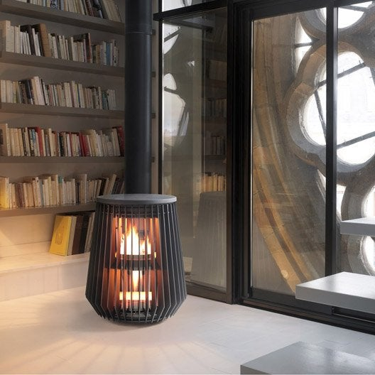 po le bois invicta il t anthracite 6169 44 8 0 kw. Black Bedroom Furniture Sets. Home Design Ideas