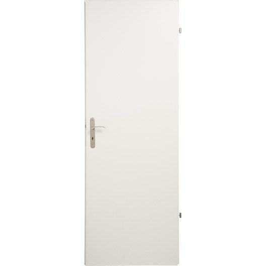 Bloc porte m dium mdf home blanc x cm for Porte de chambre prix