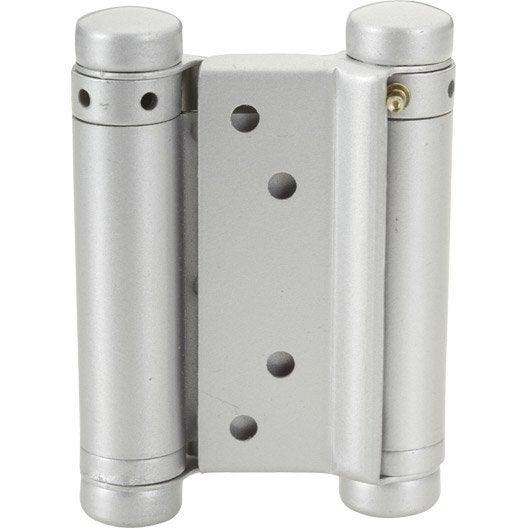Paumelle acier pour portes va et vient HETTICH, L.75 x l.30 mm | Leroy