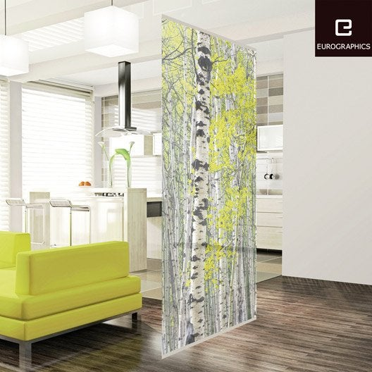 cloison d corative silver birch forest 100 x 240 cm leroy merlin. Black Bedroom Furniture Sets. Home Design Ideas