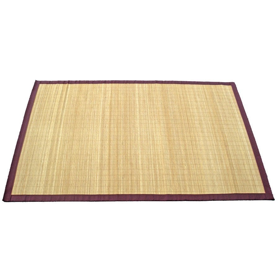 Tapis Naturel Bambou Naturel L 140 X L 200 Cm Leroy Merlin