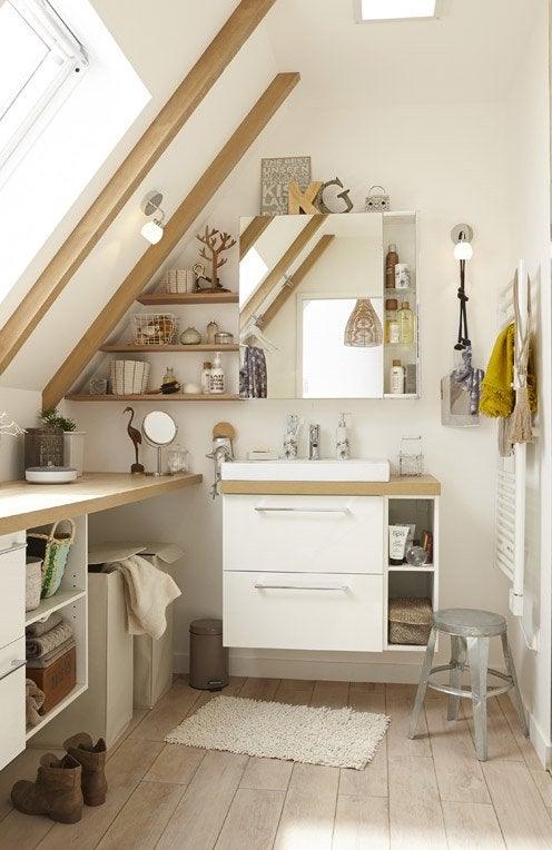 comment agencer une petite salle de bain ides de salle with comment agencer une petite salle de. Black Bedroom Furniture Sets. Home Design Ideas