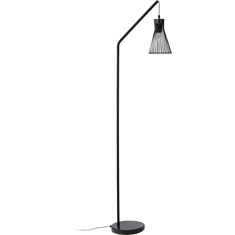 lampadaire gael 166 cm noir 23 w leroy merlin. Black Bedroom Furniture Sets. Home Design Ideas