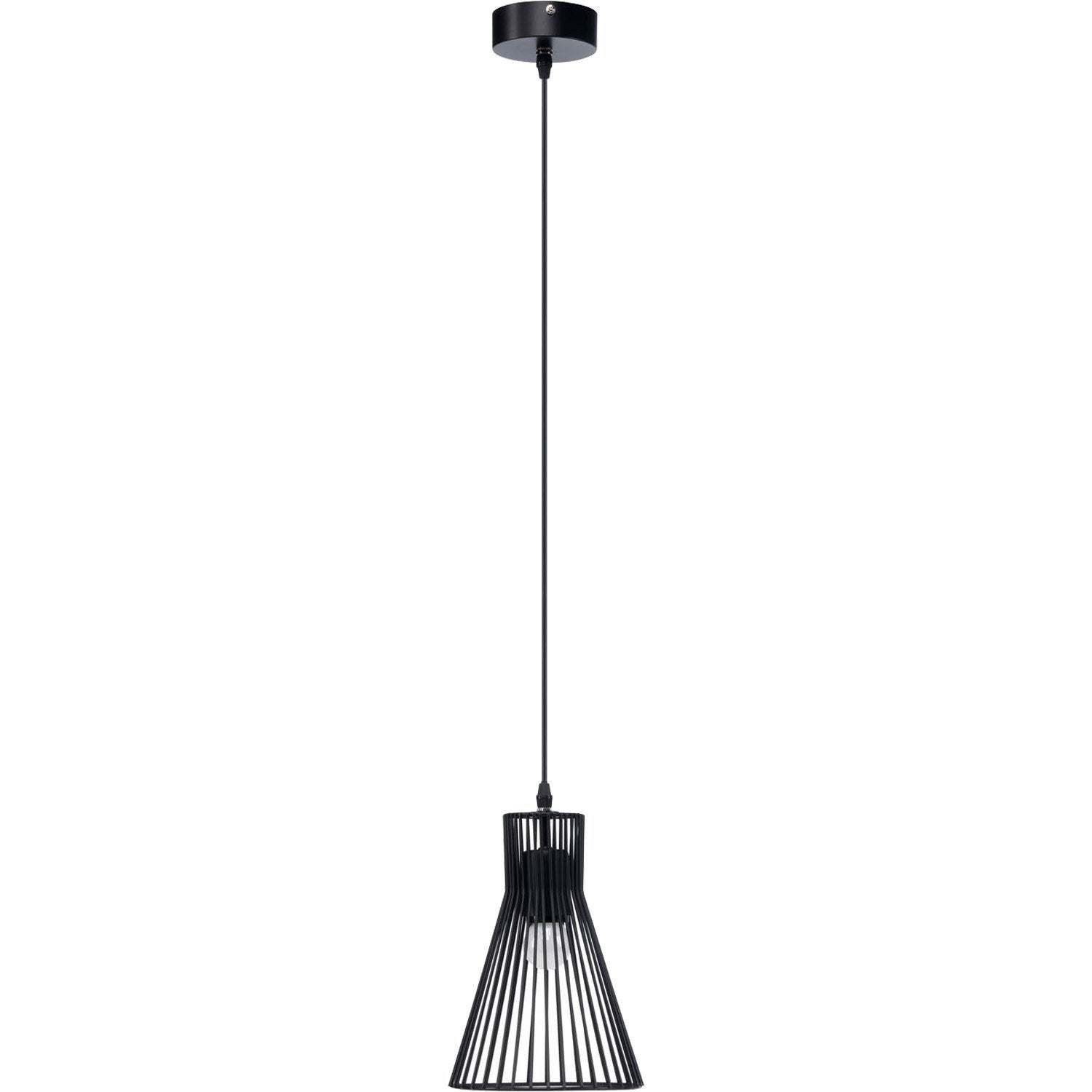 Suspension design gael m tal noir 1 x 60 w mathias leroy for Suspension luminaire filaire