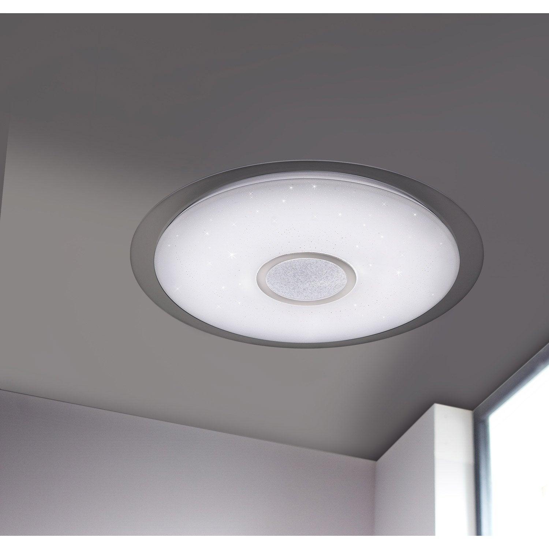 Lampe Plafond Salon Design plafonnier design led intégrée kiana d.56cm polycarbonate blanc, 1 x 34 w  wofi