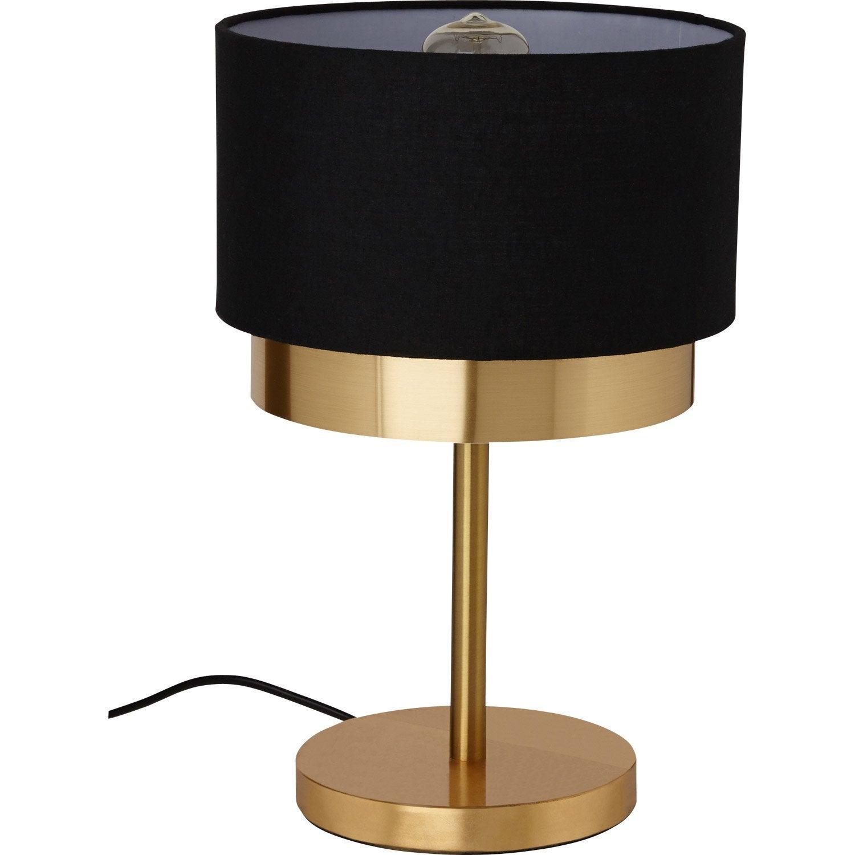 lampadaire noir et dore